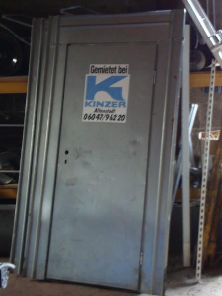 Ortsveränderliche Stahltüre / Bautür