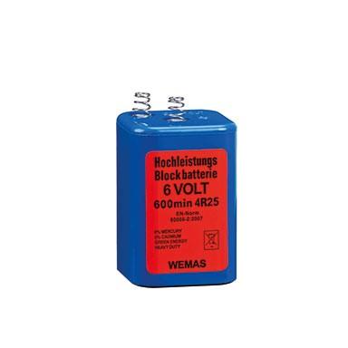 WEMAS 6 Volt Hochleistung-Blockbatterie 4R25