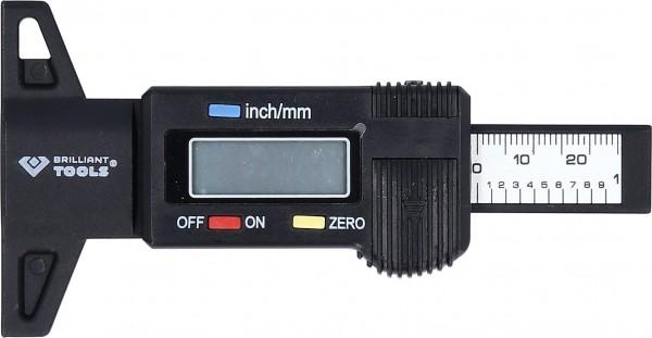 Brilliant Tools Digitaler Tiefenmessschieber 0 - 25 mm